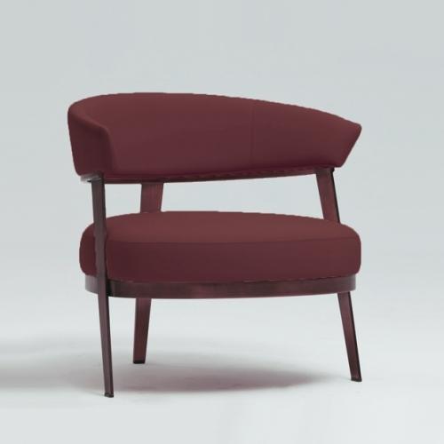 Тапициран стол в изкуствена кожа
