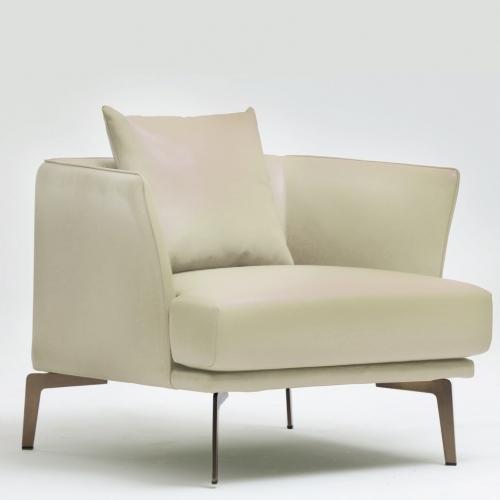 Релакс стол, тапициран с изкуствена кожа
