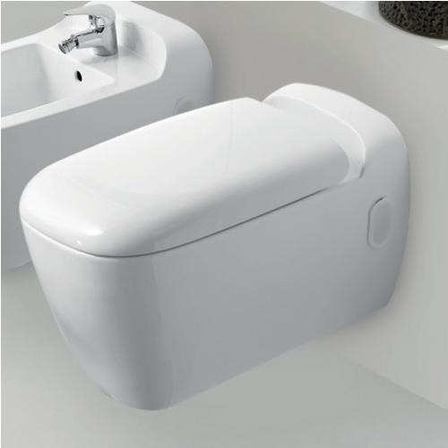 Окачен тоалет с капак