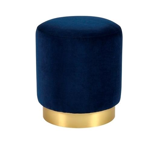 Кръгла синя табуретка