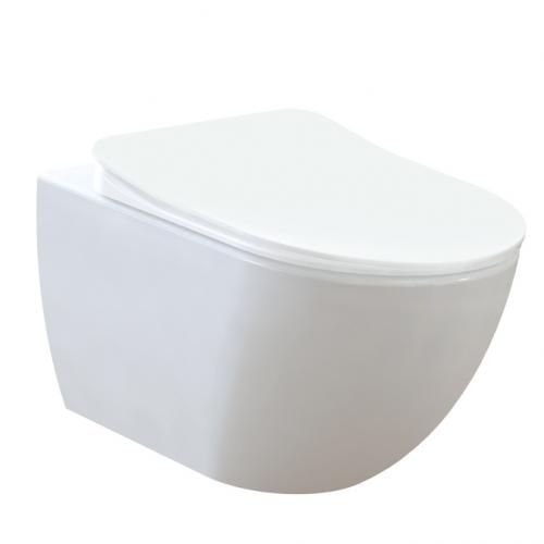Окачен тоалет от бял порцелан