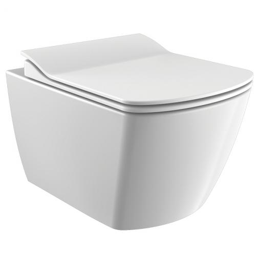 Бял окачен тоалет