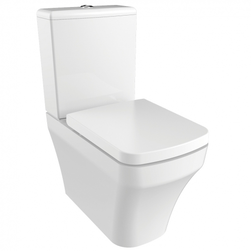 Тоалет комплект две части, бял порцелан