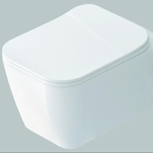 Окачен тоалет, бял