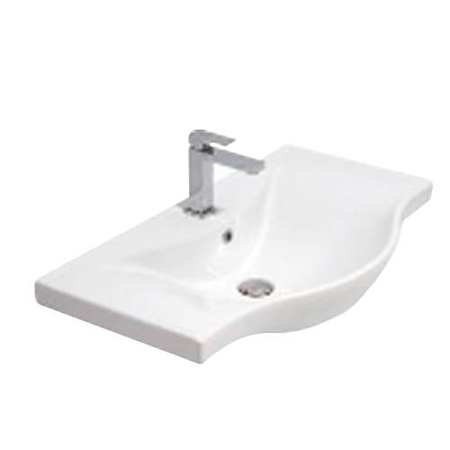 Окачена мивка от бял порцелан