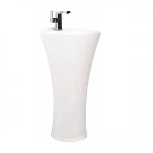 Бяла порцеланова мивка