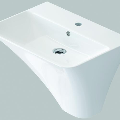 Бяла окачена мивка