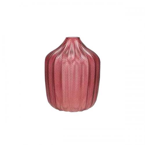 Широка стъклена ваза