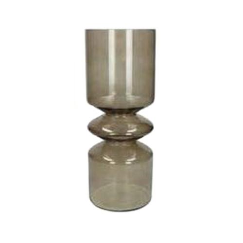 Стъклена ваза, кафява
