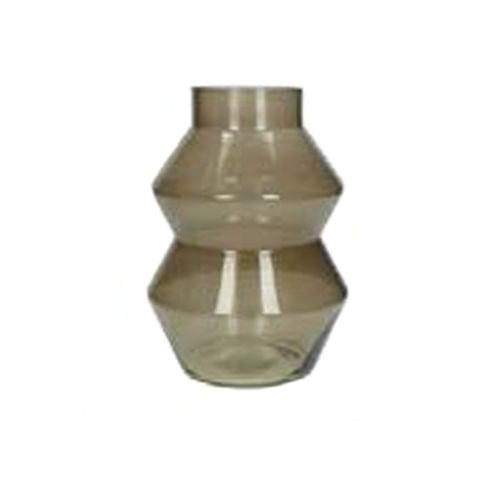 Широка кафява ваза