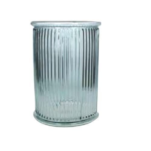 Светлосиня стъклена ваза