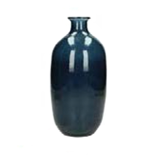 Синя стъклена ваза