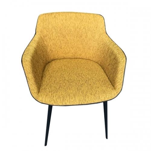 Жълт трапезарен стол с подлакътници