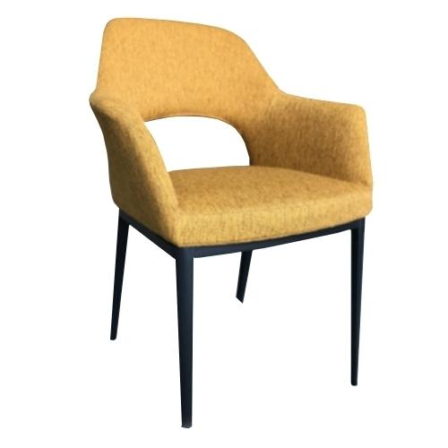 Жълт трапезарен стол
