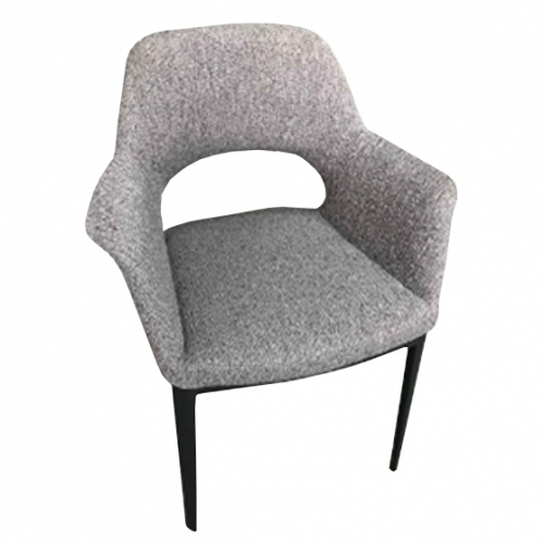 Тъмносив трапезарен стол