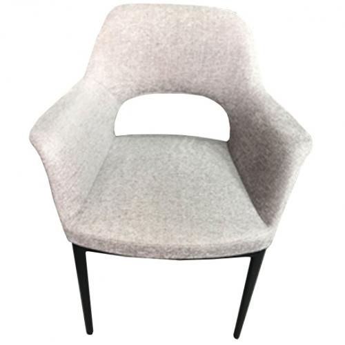 Трапезарен стол със сива дамаска