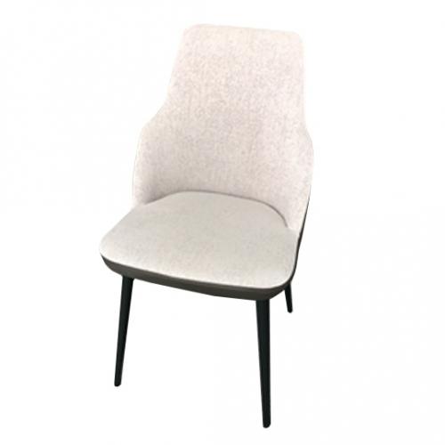 Трапезарен стол без подлакътници и с гръб в кожа