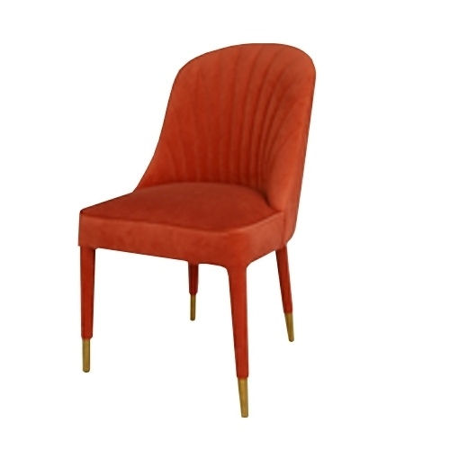 Трапезарен стол с  дамаска червено кадифе