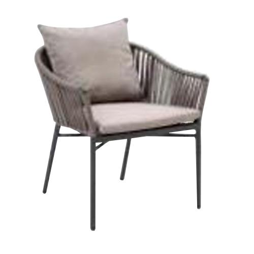 Трапезарен стол с оплетка от въже