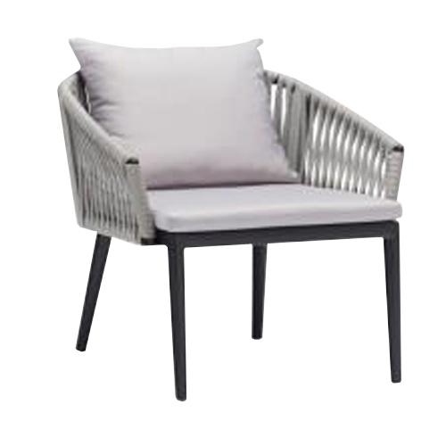 Сиво кресло с алуминиева рамка с прахово покритие