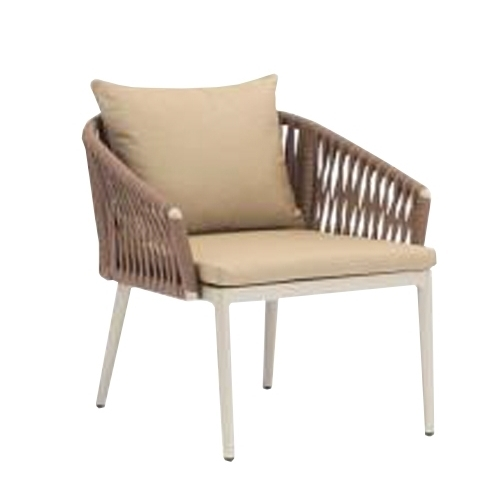 Кресло с алуминиева рамка с прахово покритие в цвят шампанско