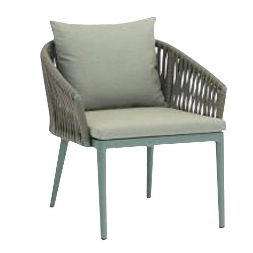 Кресло с алуминиева рамка с прахово покритие, сиво