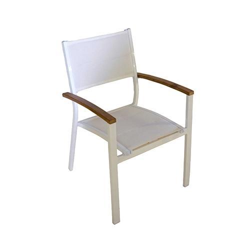 Сгъваем бял градински стол