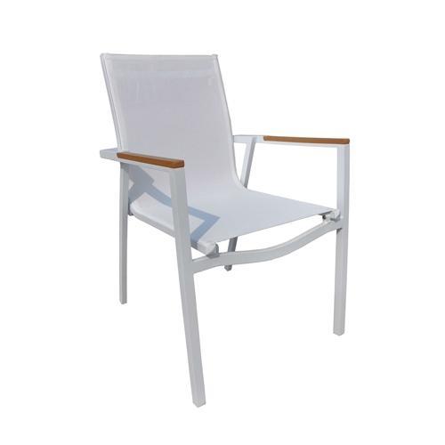 Бял алуминиев градински стол