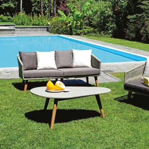 Градински сет от два фотьойла, диван двойка и масичка капка