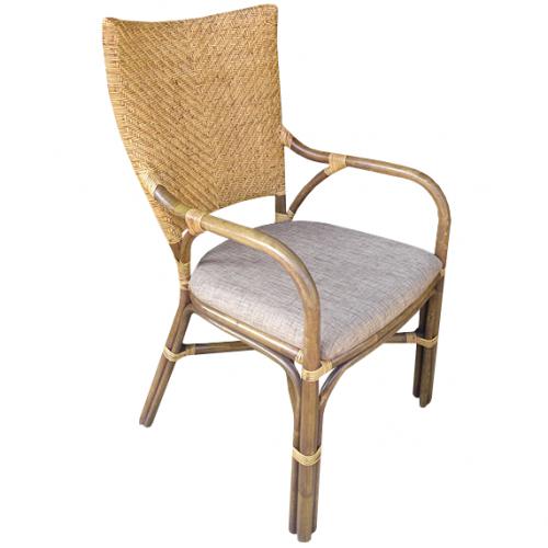 Трапезарен ратанов стол с подлакътници