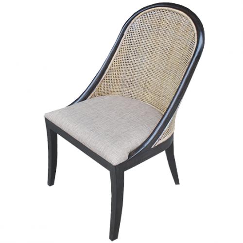 Трапезарен стол от ратан без подлакътници