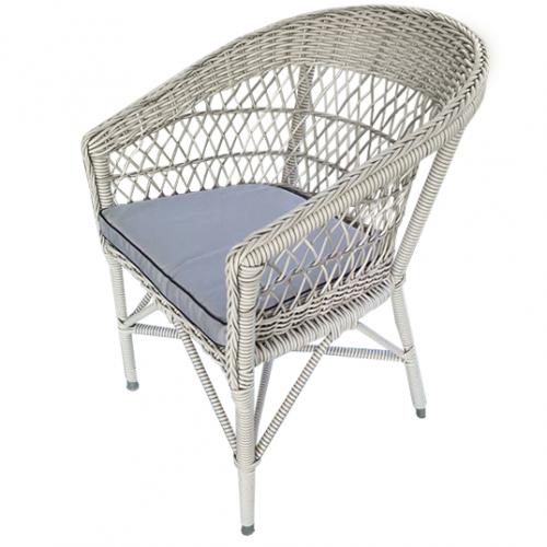 Градински трапезарен стол с ратанова оплетка