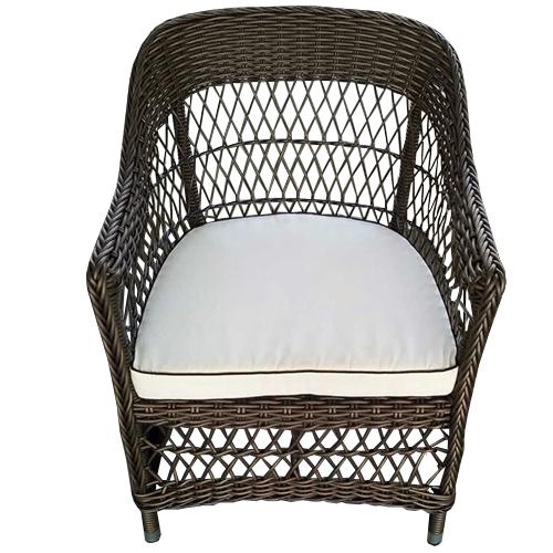 Градинско кресло от полиетиленова оплетка