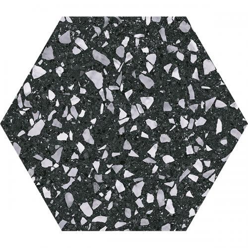 Гранитогрес VENICE BLACK HEX 25
